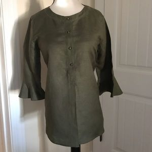 Ann Taylor NWOT Hunter Green 3/4 Sleeve Size XXS